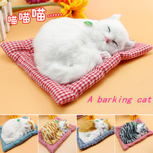 Electric plush toy cat Birthday gifts for girls Newborn gift Indoor ornament A006(China)