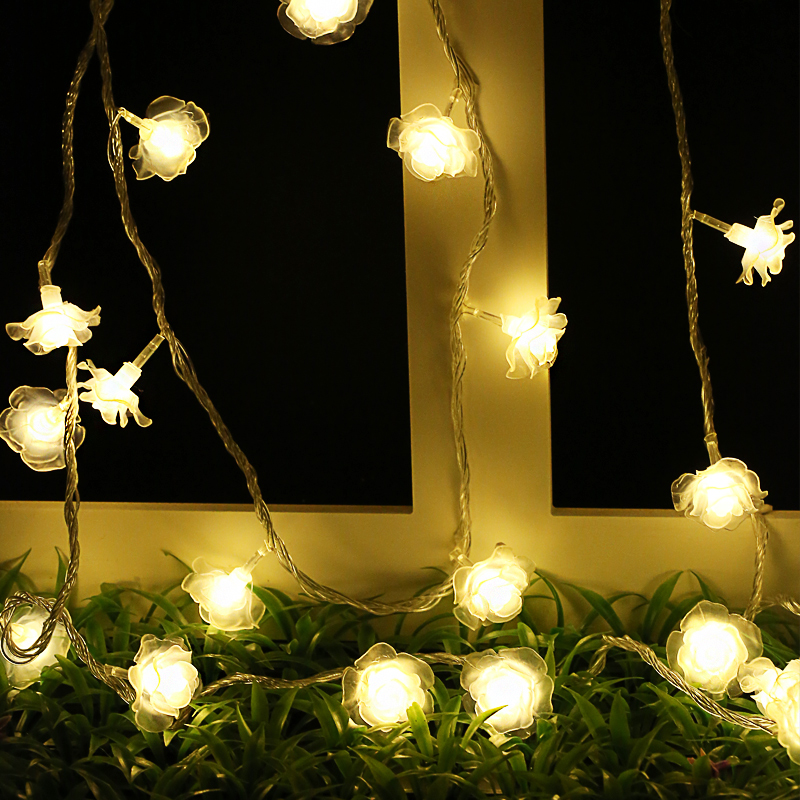 1M/2M/3M/4M/5M/10M LED Rose Flower AA Battery Christmas String Lights for Valentine Wedding party Garland Decoration Fairy Lamp light string battery 1m 2m 5m 10m led string lights for xmas garland party wedding decoration christmas tree flasher fairy light