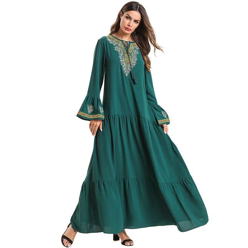 Abaya Kaftan Hijab Muslim Dress Jilbab Caftan Robe Dubai Bangladesh Abayas For Women Ramadan Elbise Turkish