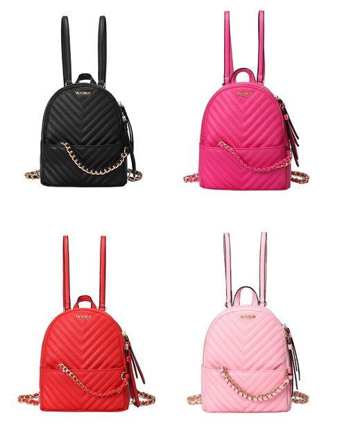 2019 mais recente moda rosa do amor das mulheres saco de Viagem mochila feminina de couro das senhoras sacos de ombro homens listrado mochilas com cordão