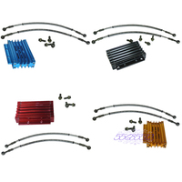 CNC Motorcycle Oil Cooler Kit Radiator Cooling For ATV Pit Dirt Bike 50CC 125CC