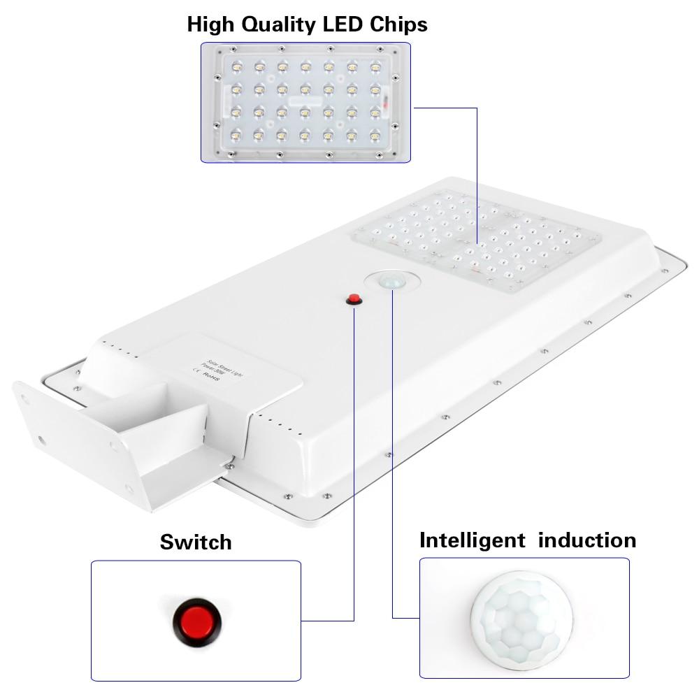 1pcs 50W 30W 20W 15W 10W LED Solar Street Light Integrated