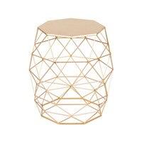 Металлический золотой цвет торцевой стол мебель для гостиной приставной журнальный столик