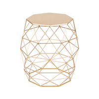 Metal Gold Color End Table Living Room Furniture Coffee Side Table