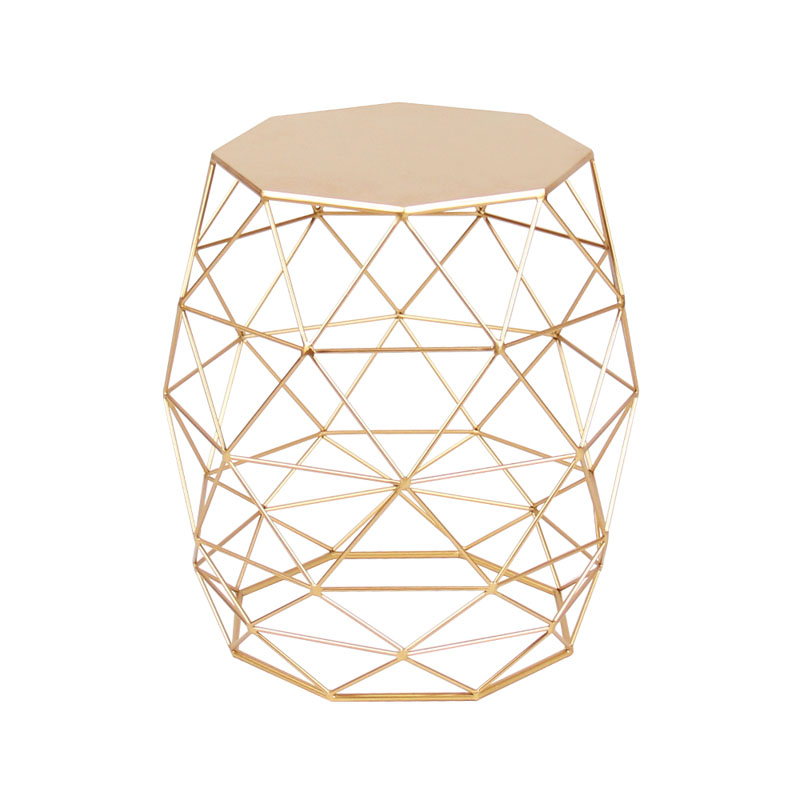 Metal Gold Color End Table Living Room Furniture Coffee Side Table wrought iron metal coffee table living room furniture tables phone table