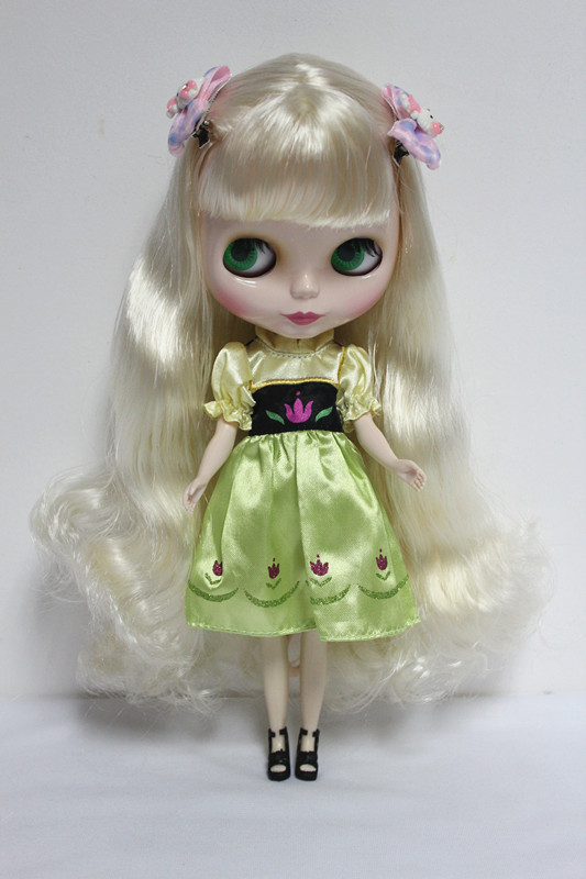 Free Shipping big discount RBL-17DIY Nude Blyth doll birthday gift for girl 4 colour big eyes dolls with beautiful Hair cute toy