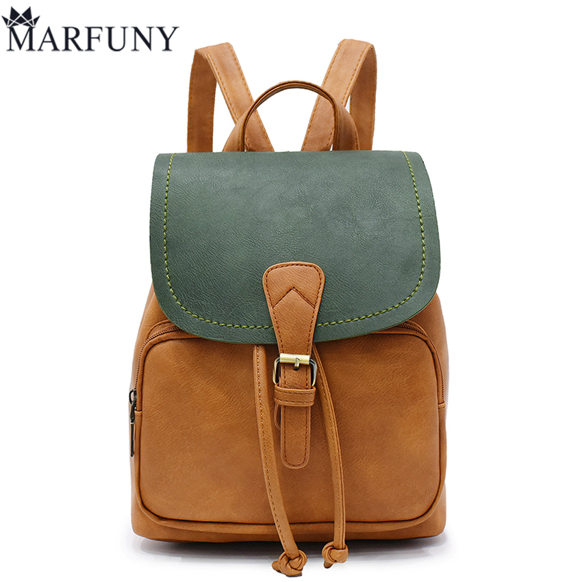 Fashion Panelled Backpack Women Bag Preppy Style School Bags For Teenage Girls Travel Backpacks Hot Sale Pu Leather Backpack Sac