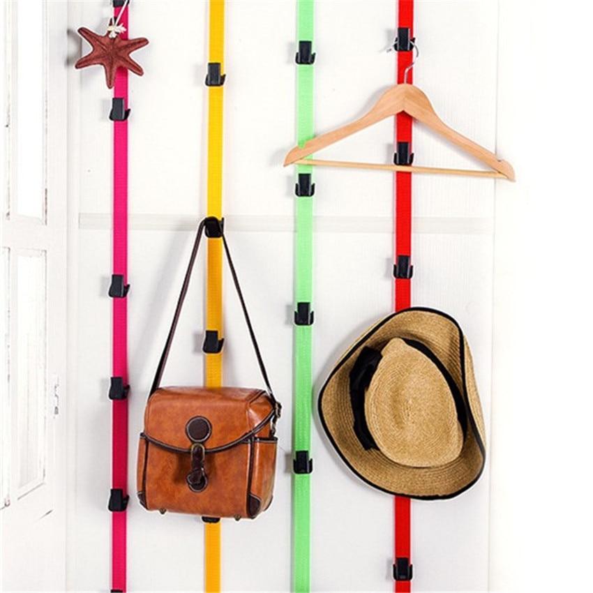 Height Adjustable Hook Rack With Garment Cap After Door