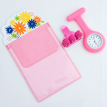 Silicone Watch Nurse Fob Watch Nursing Gift Quartz Pen Clips 4 Color Penholder Doctors Nurses Dedicated Pen Bag Practical Unisex