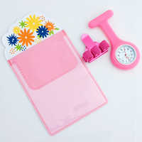 Silikon brosche uhr nurse fob uhr pflege geschenk quarz Stift Clips 4 farbe Federhalter Ärzte Krankenschwestern Gewidmet Stift Tasche Praktische