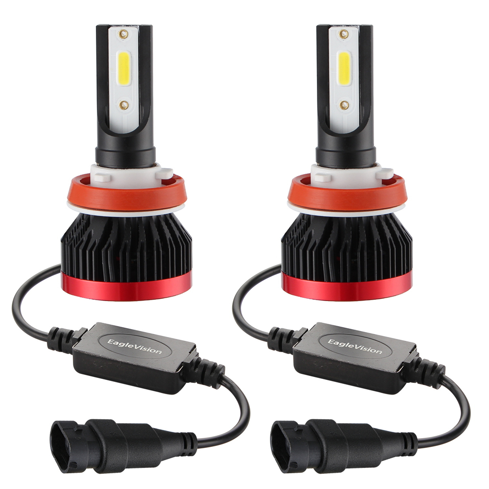 2PCS <font><b>H7</b></font> H11 H9 H8 9005 9006 COB Car <font><b>LED</b></font> <font><b>Headlight</b></font> Bulbs H4 Hi-Lo Beam 50W 10000LM 6500K Auto Headlamp <font><b>Led</b></font> Car Light 12V image