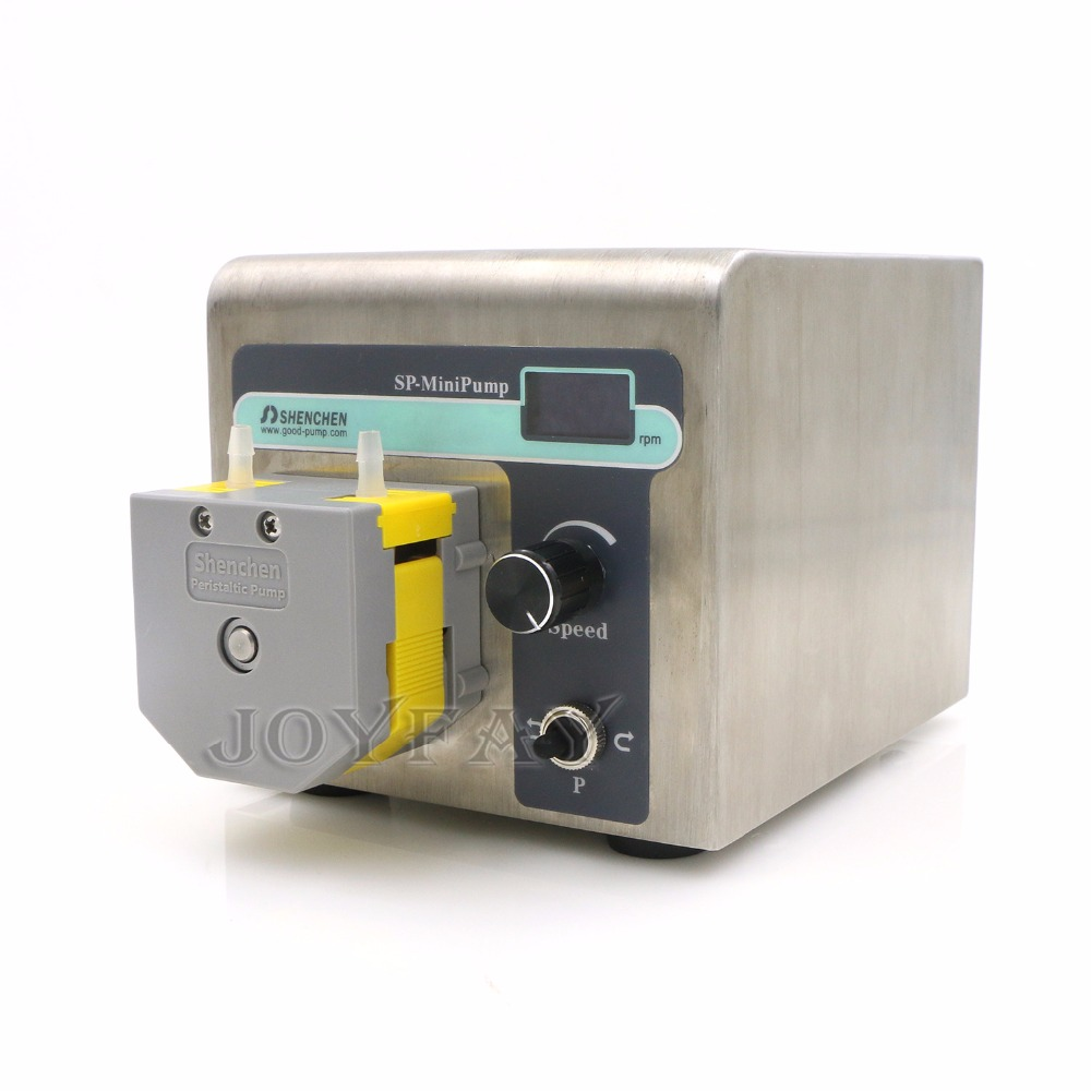 Peristaltic Pump SP-MiniPump 0.0024-190 ml/min MiniPump01 Head Single Channels 24VDC Stepper Motor OLED Screen CE Certificate peristaltic pump v6 dispensing 2 channel 2 yz2515x 0 007 1740 ml min per channel ce certification one year warranty