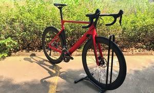2019 الكربون الطريق القرص الدراجة كاملة دراجة الكربون BICICLETTA دراجة مع مجموعة الدراجة R8000 R7000 عجلات الكربون