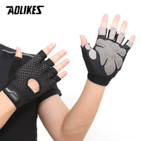 AOLIKES Professional Gym GlovesExercise Gloves Men Hands Protecting Breathable Sports Gloves Sport Fitness Weight lifting Gloves