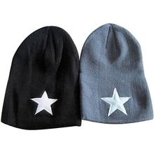 2016 Новый Женщины Мужчины Пентакль Звезда Моды Шапочка Хип-Хоп Вязаная Шапка Зима Теплая Крючком Hat
