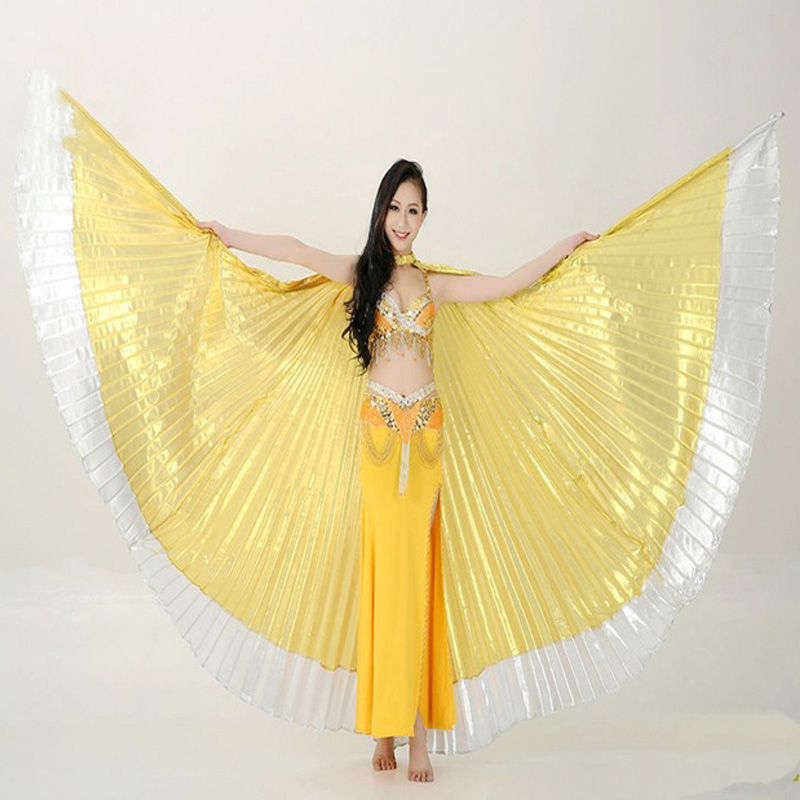 2016 New Arrivals Cheap Egyptian Women Belly Dance Costume Isis Wings On Sale