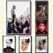 Canvas Pictures Home Decor Painting Wall Art XXXTentacion Rap Hip Hop Music Star Printed Nordic Poster Modular For Living Room(China)