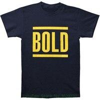 Ronde Hals Best Selling Mannelijke Natuurlijke Katoenen Shirt Bold Mannen & #039; S Bars Logo T-shirt Blauw