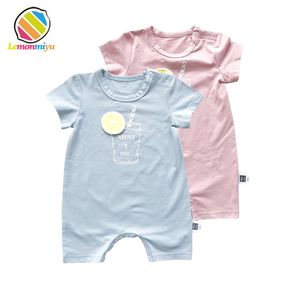 fdbf6ee34 Lemonmiyu Summer Short Pajamas Short Sleeve O-Neck Print Baby ...