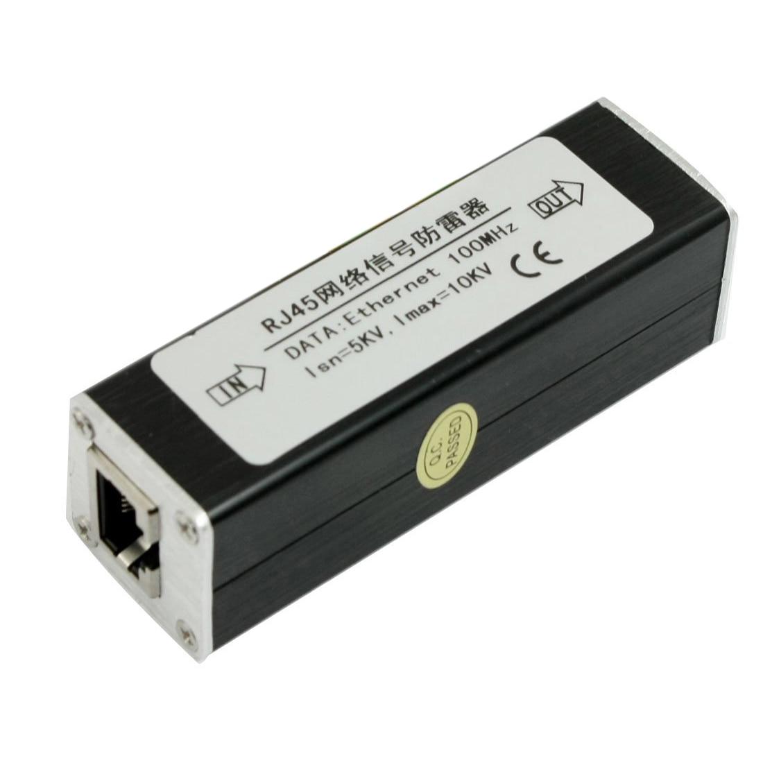 Hot Sale RJ45 Plug Ethernet Network Surge Protector Thunder Arrester 100MHz недорого