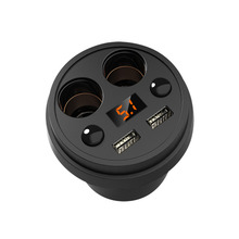 Многофункциональный Дисплей Напряжение 3, 1A 2 USB cigrarette легче сплиттер для gps dvr