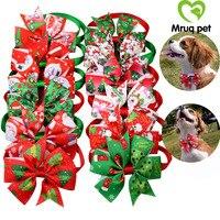 200pcs/Lots Christmas Cat Dog Bow Ties Adjustable Pet Puppy Dog Bowties Dog Collar Dog Neck ties Wholesale Pet Supplies