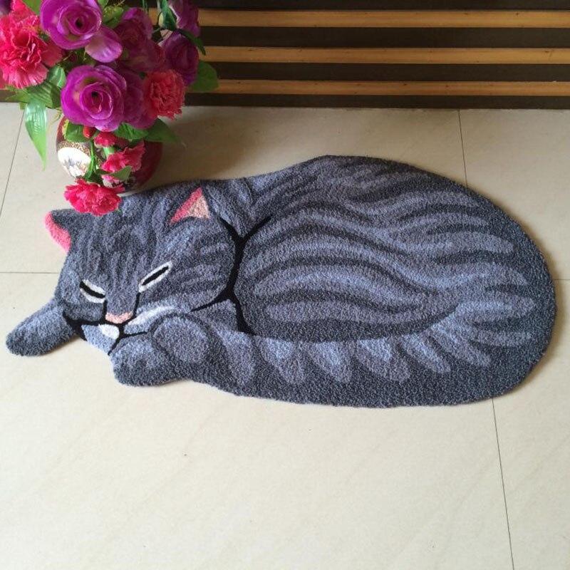Sleeping Cat Carpet Rug Balcony Floor Mat Doormats Kids