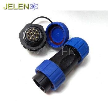 SP2110, su geçirmez konnektör 12 pin priz, yüksek gerilim akım kablo konnektörü, LED su geçirmez konnektör Erkek + Kadın