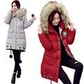 Plus Size L-5XL Winter Coat Women 2016 New Fur Collar Hooded Down Cotton Parkas Loose Long Winter Overcoats Padded Outwear W063