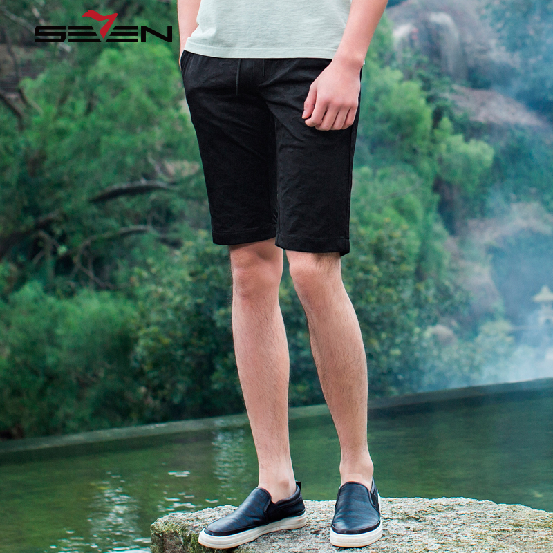 Seven7 Casual Summer Shorts Men Brand Clothing Fashion Print Workerout Short Male High Quality Fashion Elastic Shorts 112S8M020
