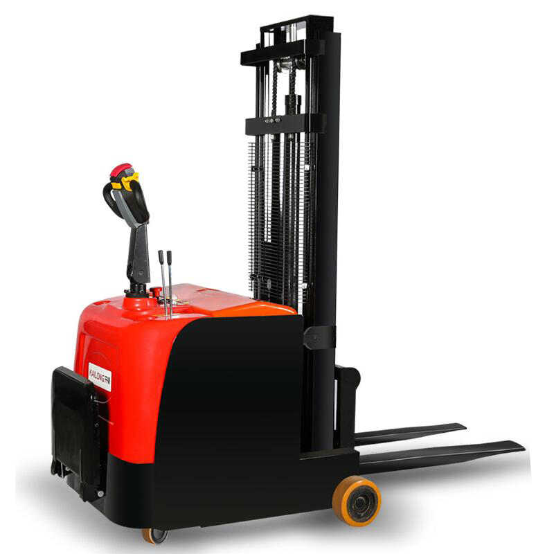 Electric Stacker Electric Forklift 1 5T Small Forklift Hydraulic Handling  Lift Pile High Car Without Leg Balance Weight Type