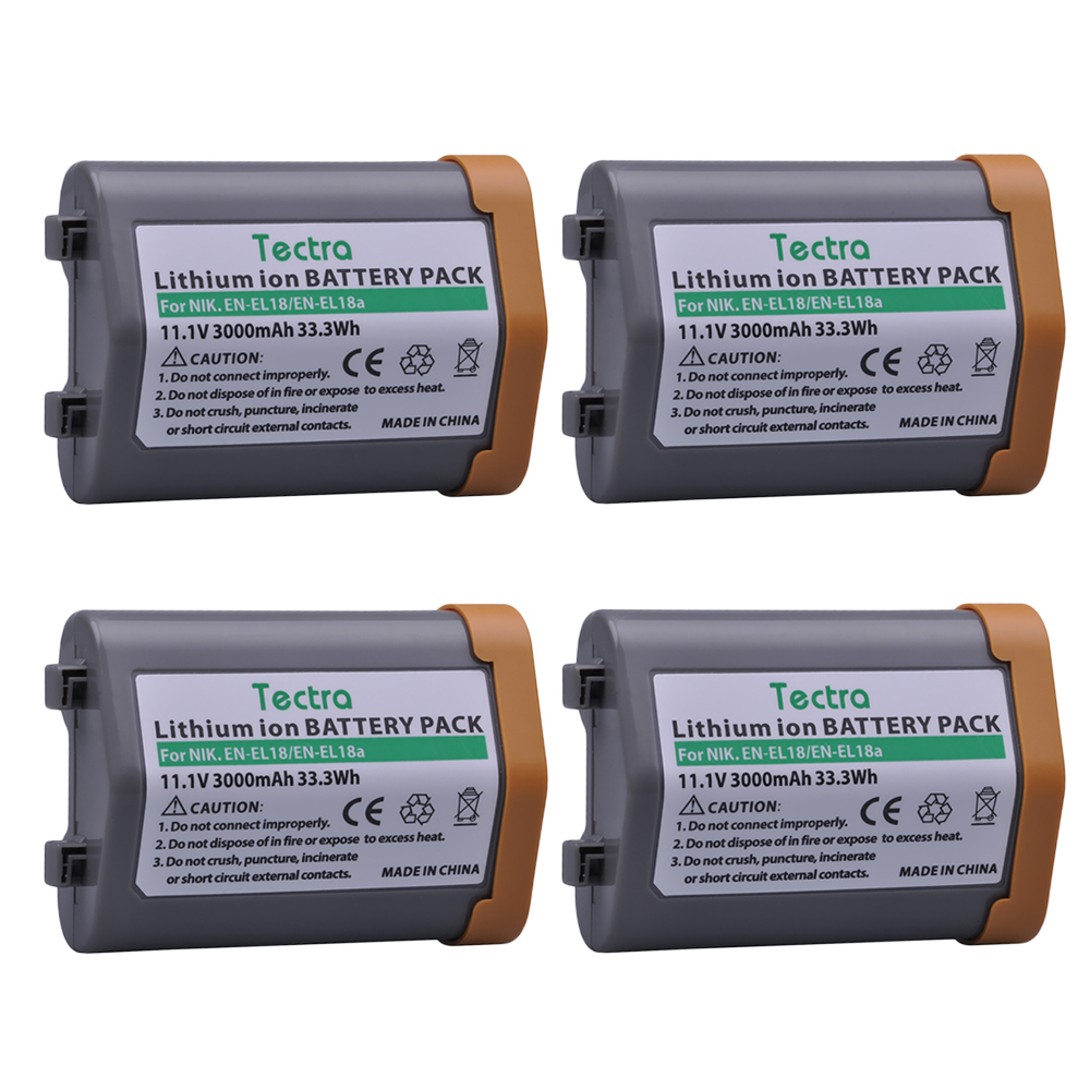 4Pcs Battery for Nikon EN-EL18, EN-EL18a, EN EL18a, ENEL18, EN EL18, ENEL18a, MH26a, MH-26a, MH-26 and Nikon D4, D4S, D5 Camera en
