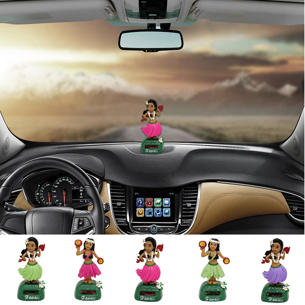 Obedient Brand New And High Quality Hawaii Girl Car Solar Powered Dancing Animal Swinging Animated Bobble Dancer Car Plastic Solar #8 Ornaments