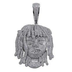Ожерелье TOPGRILLZ Lil с подвеской-насосом, 10 мм, цепь из кубического циркония, подвески серебряного цвета в стиле хип-хоп