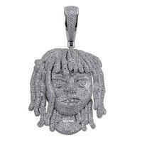 Персонализированные Лил насос подвеска Цепочки и ожерелья с 10 мм кубинской Для мужчин полный льдом CZ цепи хип хоп серебро Цвет подвески юве