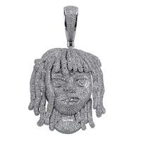 Персонализированные лиловый насос кулон ожерелье с 10 мм кубинской цепочкой для мужчин полный Iced Out CZ цепи хип хоп Подвески серебряного цвет