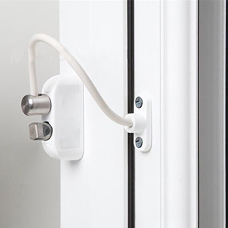 Window Security Chain Lock Door Restrictor Child Safety Stainless Anti-Theft Locks For Home Sliding Door Furniture Hardware 200m thick anti theft security door lock window padlock bolt chain locks for wooden metal door furniture accessories hardware