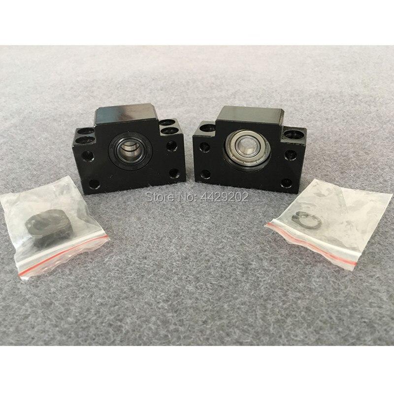 Купить с кэшбэком RU Delivery 3sets Square Linear guide sets L-400/700/1000mm & 3pcs Ballscrew 1605-400/700/1000mm with Nut & 3set BK/B12 & Coupli