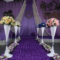 70cm Tall White Flower Stand Wedding Flower Vase Table Centerpiece Wedding Decoration