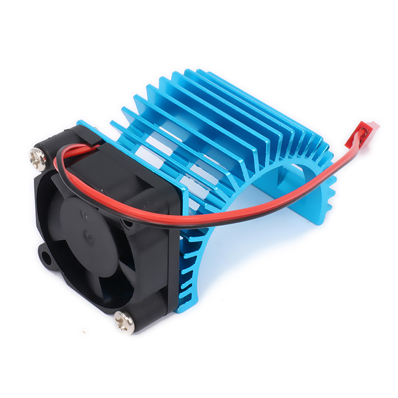 540 545 550 Size Motor Heat Sink Heatsink With Fan Cooling Side Vent 6v JST For 1/10 RC Car HSP HPI Wltoys Himoto Tamiya free shipping rc car 1 10 tram 540 550 3650 motor with fans radiator heat sink for 3650 3660 3670 3674 540 550 size motor
