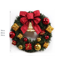 2017 30cm 40cm 50cm Green Christmas Garland Wreath Xmas Home Party Christmas Decoration Pine Tree Rattan
