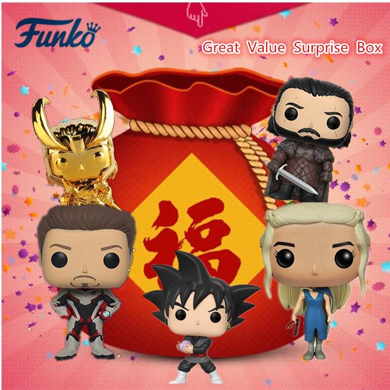 Original FUNKO POP grande valeur Surprise boîte Disney Marvel Avengers DC Justice ligue Action Figure modèle jouets livraison aléatoire