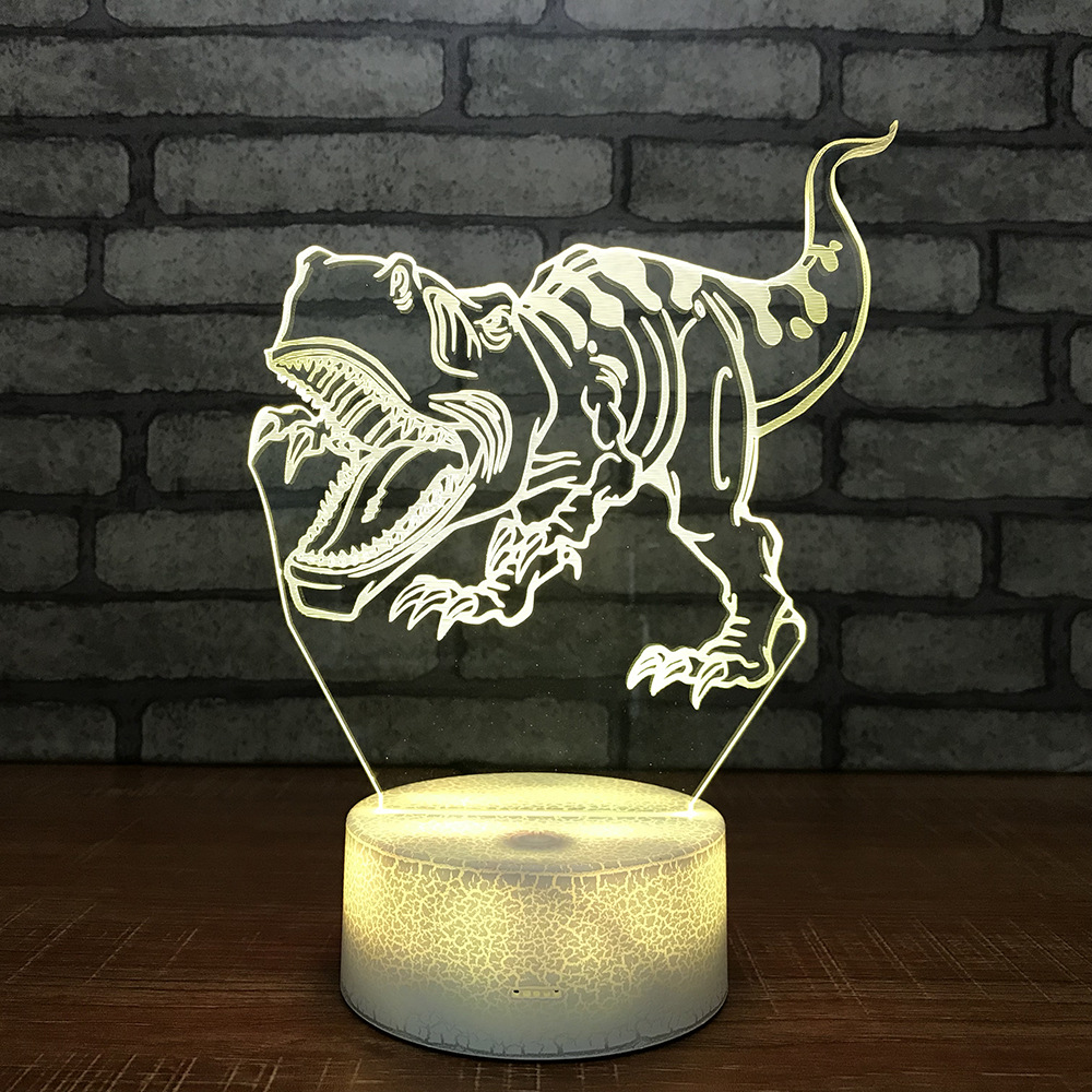 Wonder Dinosaur Small 3d Night Light Creative Children Luminous Toys 3d Bedroom Bedside Decorative Small Table Lamp 748