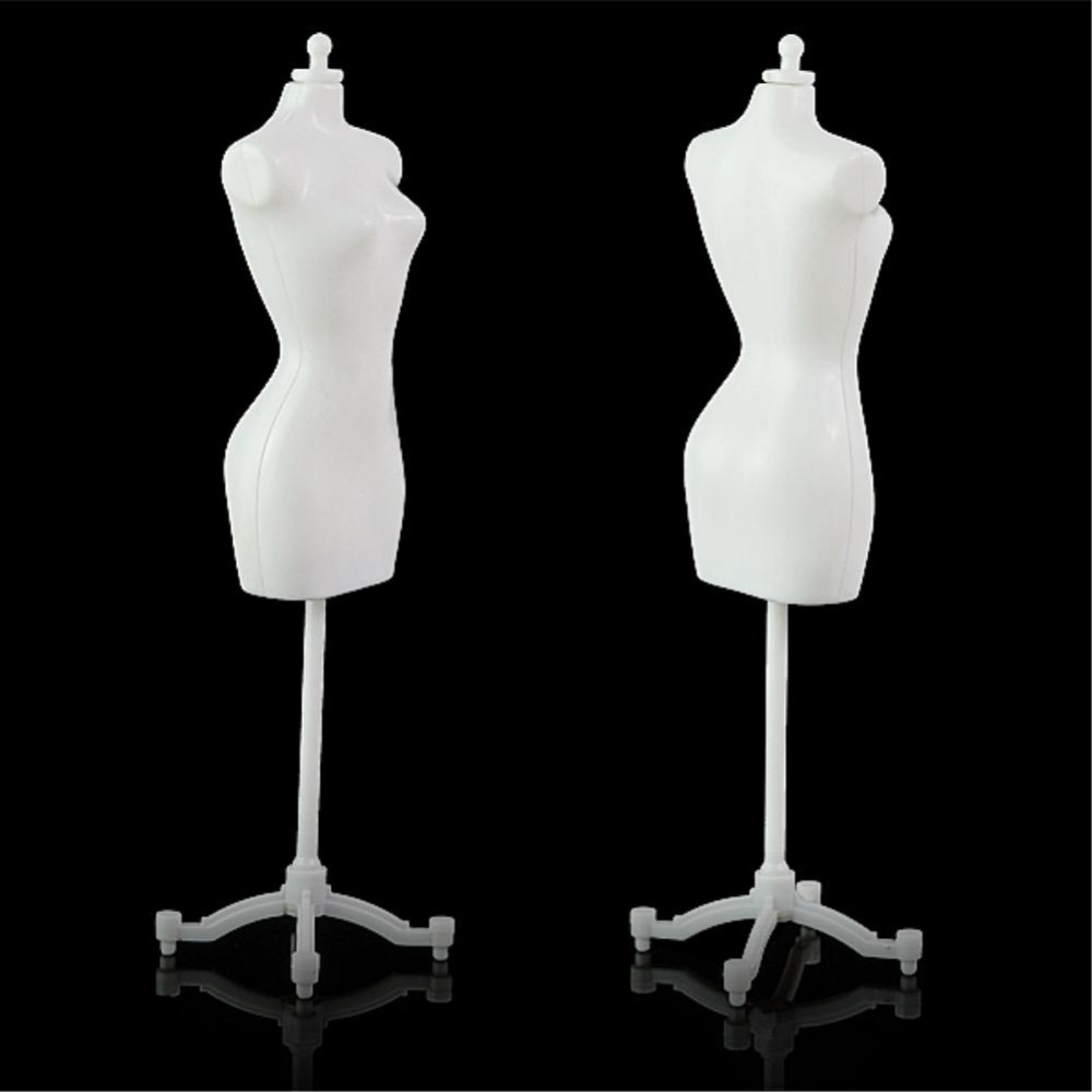 5pcs/lot For Barbie Doll Display Holder Dress Clothes Gown Mannequin Model Stand Clothes Gown Display Mannequin Model Stand(China (Mainland))