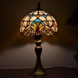 Tiffany Stijl Lampen Victoriaanse Nachtlampje 8 Inches Kleine Gebrandschilderd Glas Bureau Tafel Lamp Verlichting 15 Inches Hoogte Antieke Op koop