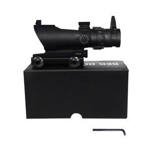 Image 2 - نطاقات بندقية بصرية منقطة حمراء اللون 1X32 من acug بالتحكم في المستوى 5 نطاقات للصيد بنقاط أحمر مع قضيب 20 مللي متر لمسدس Airsoft