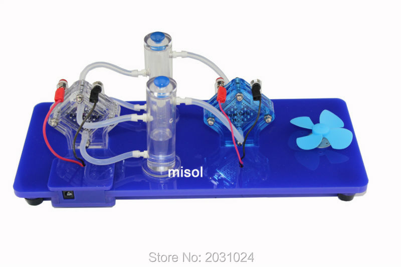 experiment tool PEM cell electrolyzer to generate Oxygen and Hydrogen to generate power for experiment