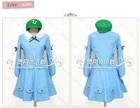 東方project山の信仰kawasiroニトリハロウィンパーティー青いドレスコスプレ衣装