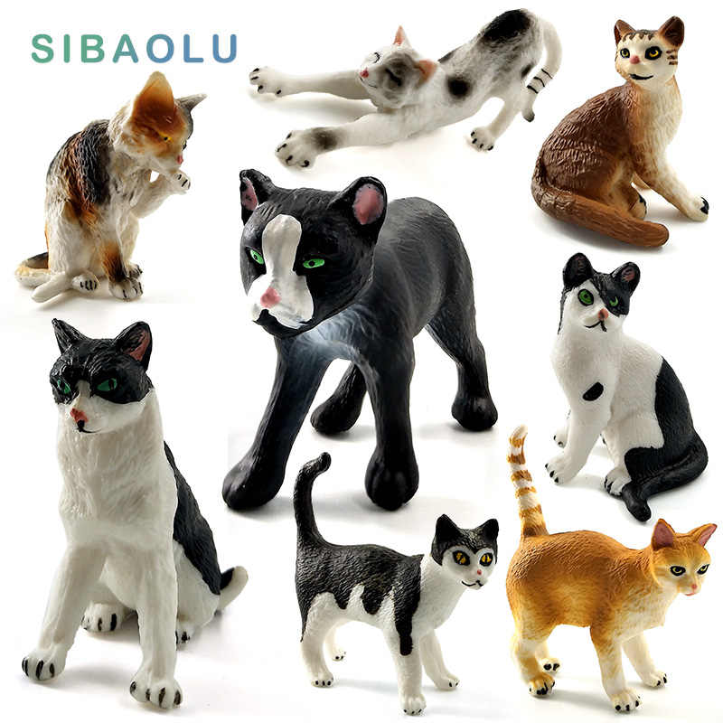 Mini Simulation cat miniature fairy figurine animal Model Ornament Home Garden Decoration accessories decor Bonsai statue figure
