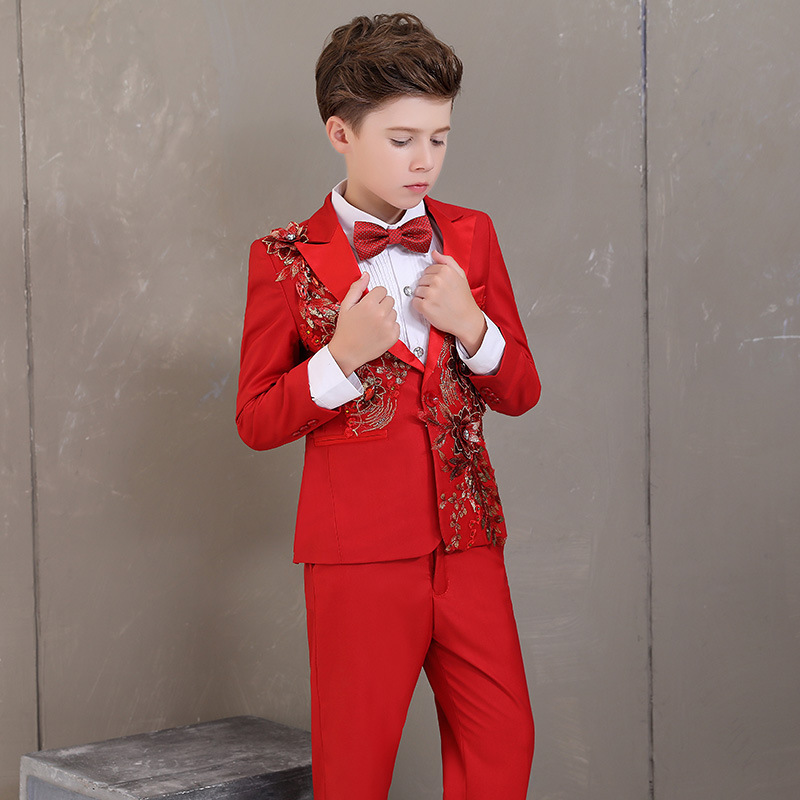 ec95dda6 Boy costume embroidery mariage jogging blazer Boys suits for weddings kids  Blazer Suit boys tuxedo clothes. US $62.79. Girls ...